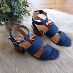 ed219fb63f5 Apt. 9 Shoes - Apt. 9 • Balance denim block heel sandals